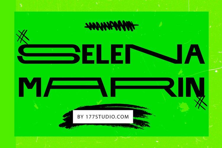 SELENA MARIN - Variable Width Font example image 1