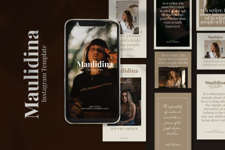 Maulidina Writer Instagram Template example image 1