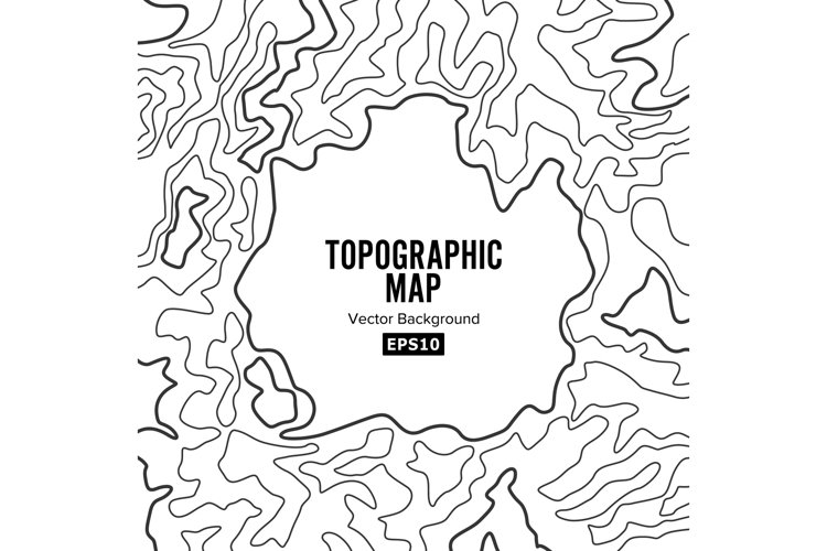 Topographic Map Background Concept. Elevation . Topo Contour example image 1