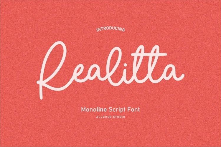 Web Font - Realitta example image 1