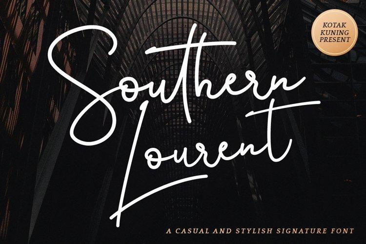 Stylish Signature Font - Southern Lourent example image 1