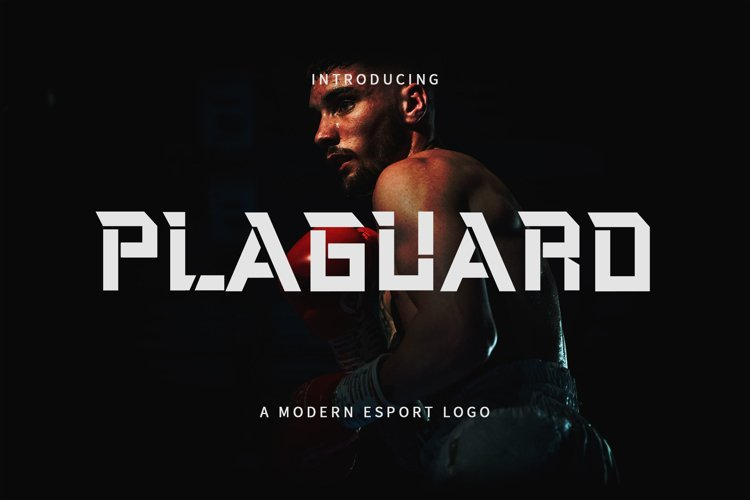 Plaguard Esport Font example image 1
