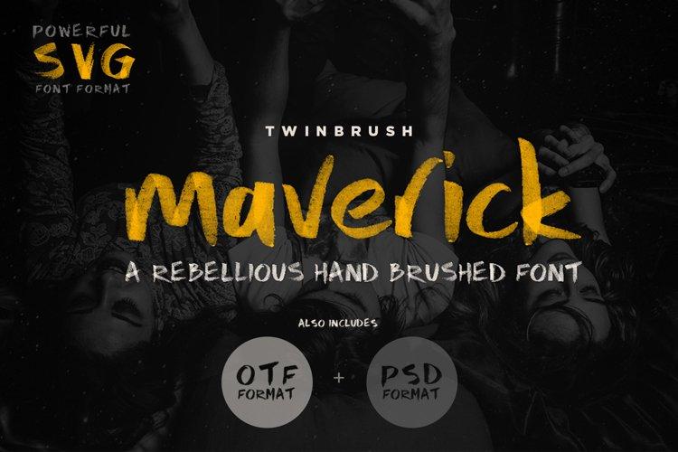 Maverick Brush and SVG Font example image 1