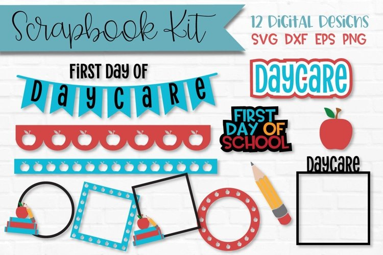 Daycare First Day of School Scrapbook Kit example image 1