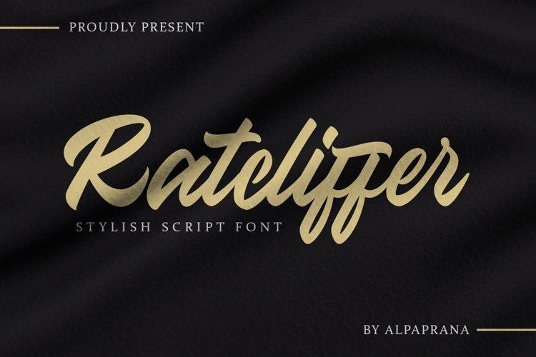 Ratcliffer - Modern Script Font example image 1