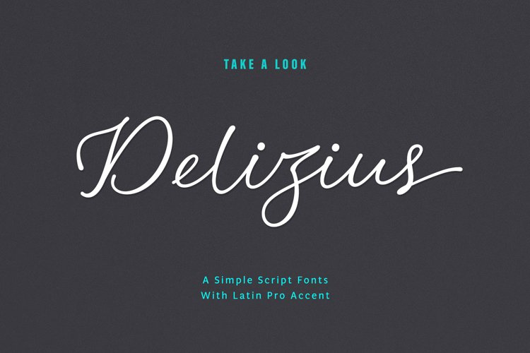 Delizius Script Calligraphy example image 1