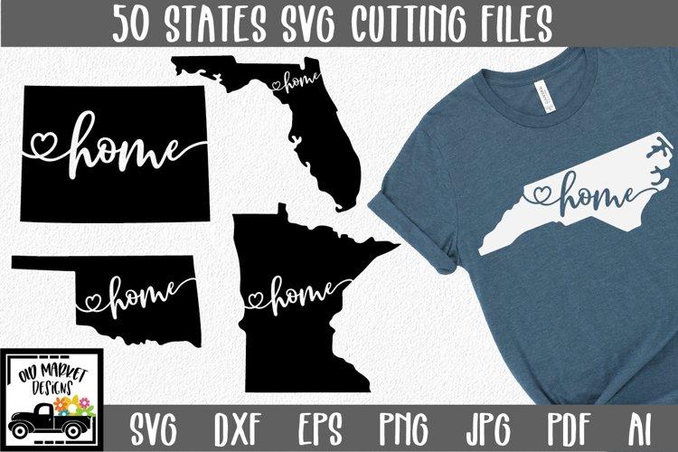 50 States SVG Bundle - Home State SVG Cut File