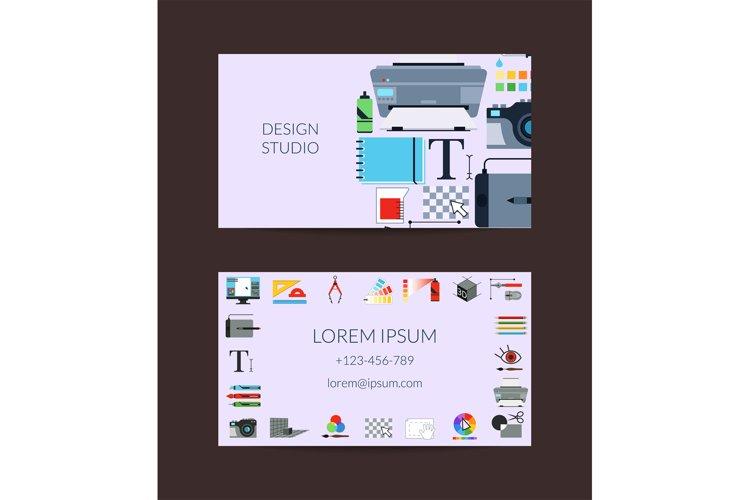 Vector digital art design studio card template example image 1