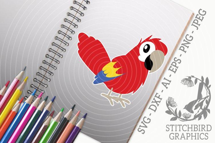 Cute Parrot SVG, Silhouette Studio, Cricut, Eps, Dxf, AI example image 1