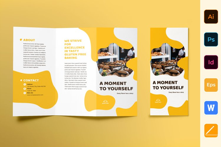 Bakery Cafe Brochure Trifold
