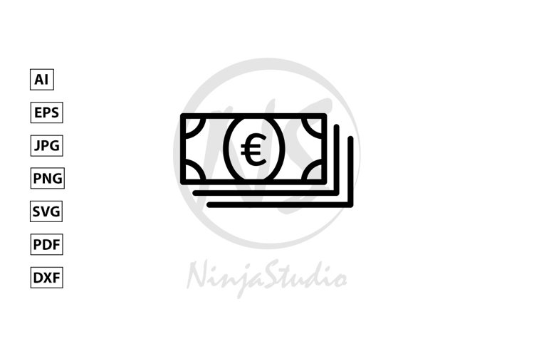 Money Line Icon In Flat Style Vector example image 1