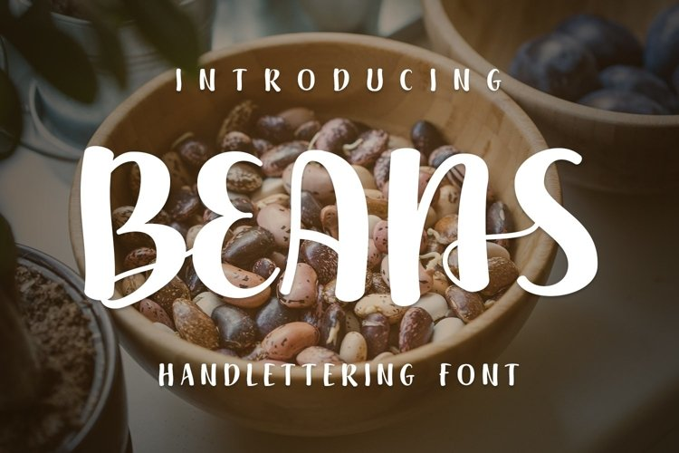 Web Font Beans example image 1