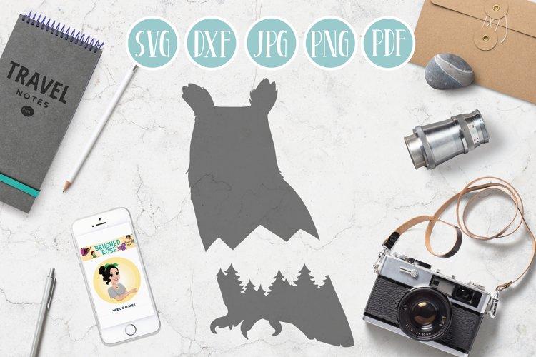 owl svg, mountain owl clipart, mountain, adventure explore example image 1