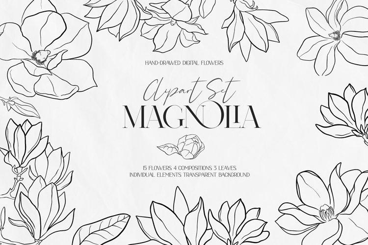 Magnolia Outline Set example image 1