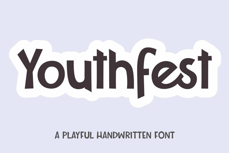 Web Font Youthfest - a playful handwritten font example image 1