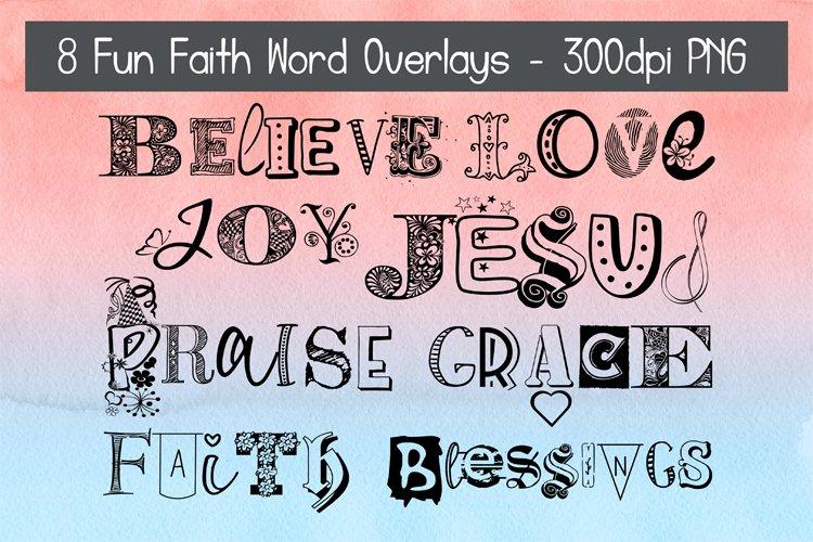 Fun Faith Word Overlays Bundle #1 example image 1