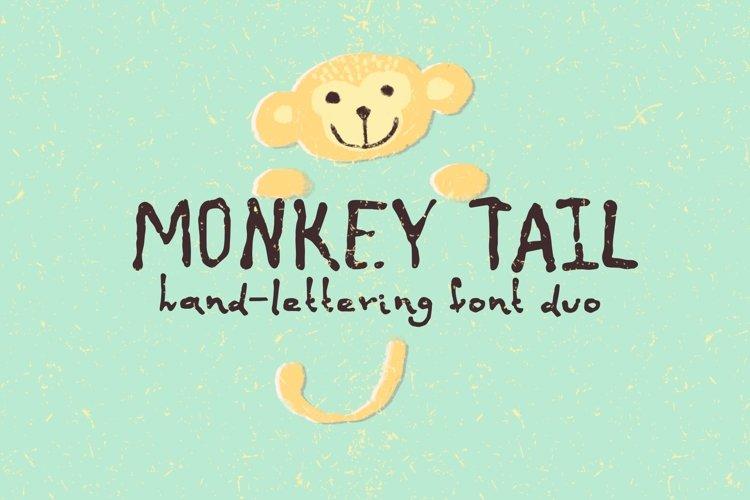 Monkey tail. Handwritten font.