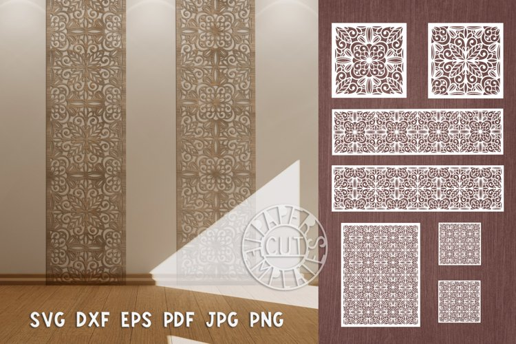 SVG 7 files of flower decorative wall panel for home decor.