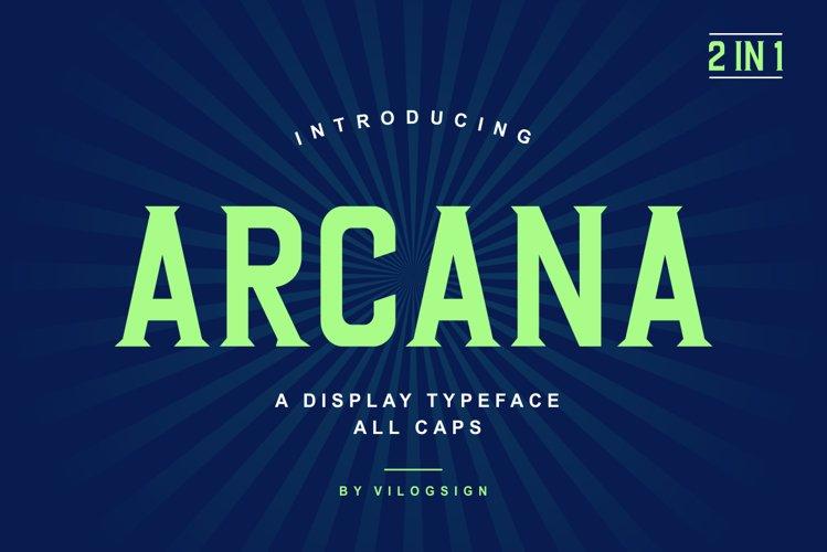 Arcana a Modern Display Typeface example image 1