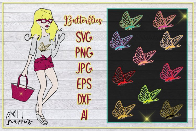 Butterfly Digital PRINTABLE, SVG IMAGES FOR PRINTS, DOWNLOAD example image 1