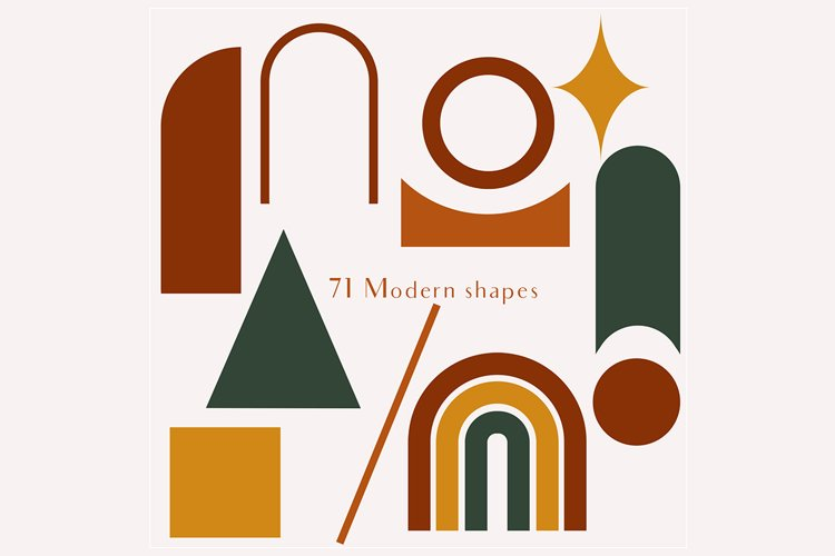 71 Modern shapes clipart illustrations example 4