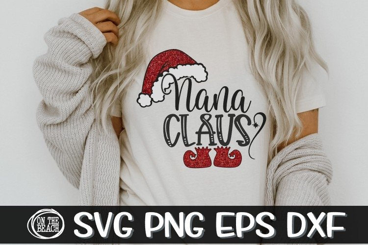 Nana Claus - SVG PNG EPS DXF example image 1