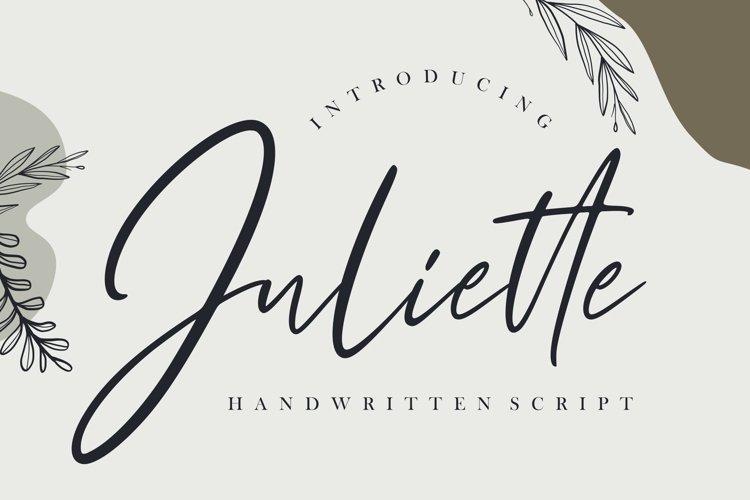 Juliette Handwritten Script example image 1