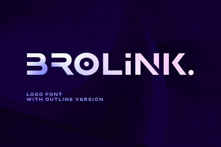 Brolink - Wide Logo Font example image 1