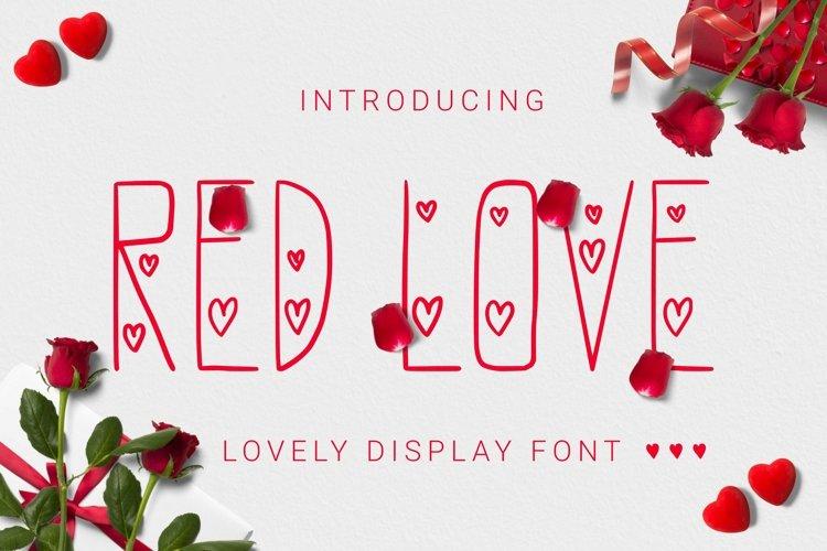 Web Font Redlove Font example image 1