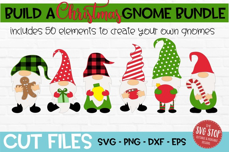Build a Christmas Gnome Bundle SVG, PNG, DXF, EPS example image 1