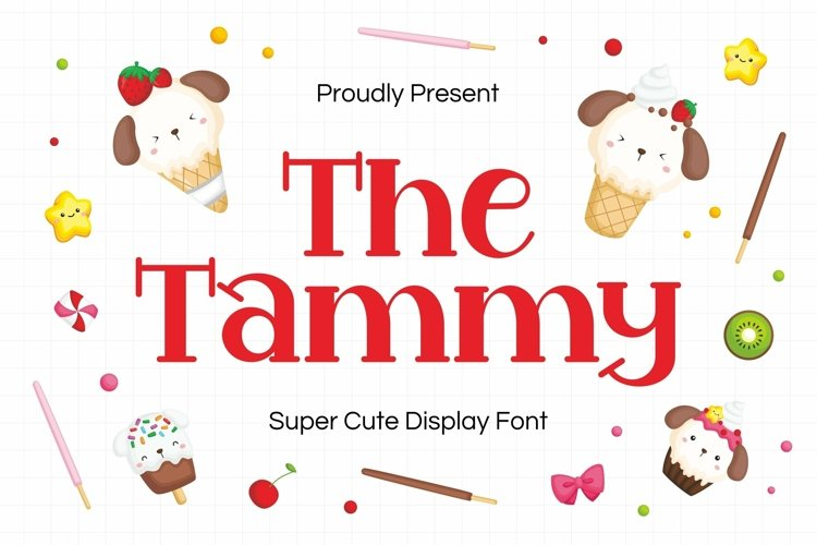Web Font Tammy Display Font example image 1
