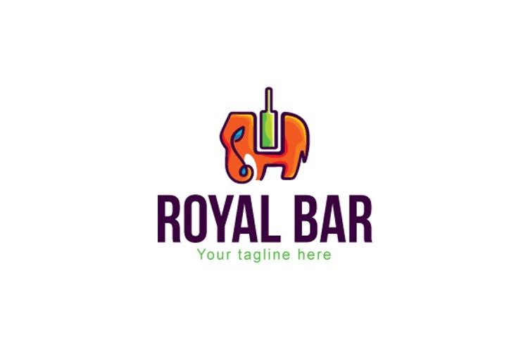 Royal Bar - Elephant Animal Stock Logo Template example image 1
