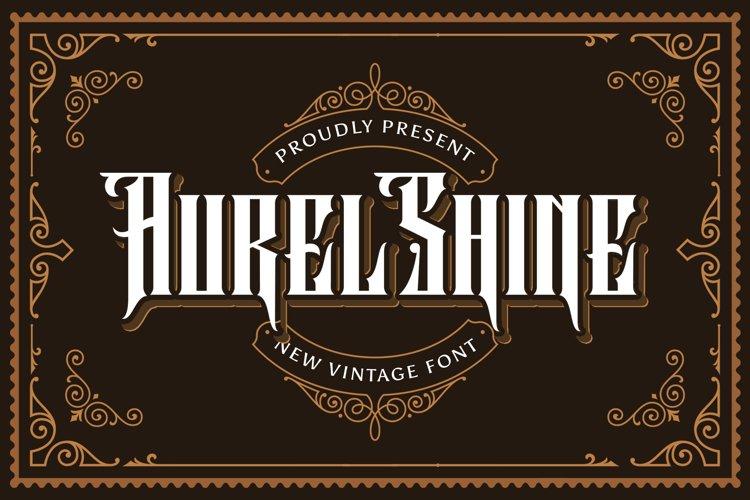 Aurel Shine - Blackletter Font example image 1