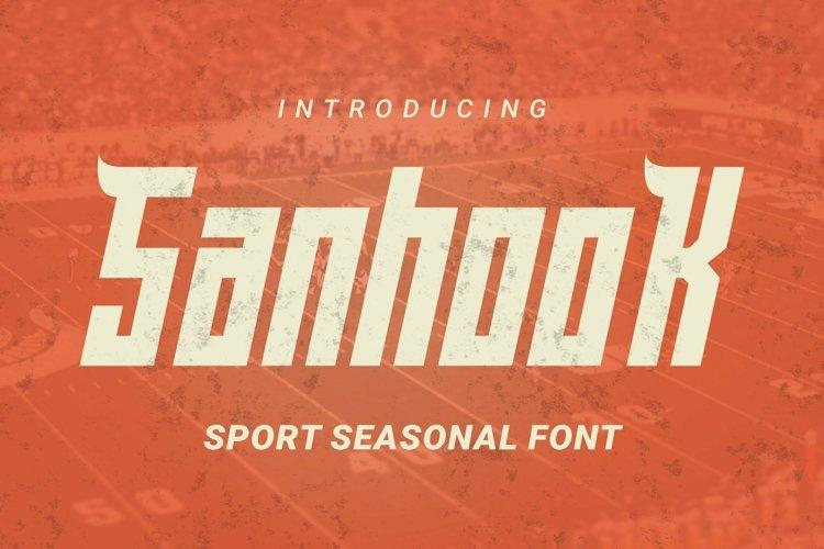 Web Font Sanhook Font example image 1