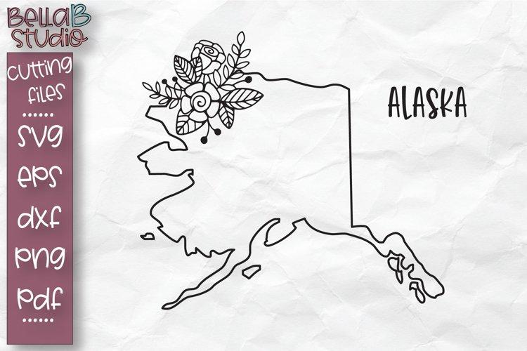 Alaska State SVG, Alaska Floral State Map SVG, Alaska SVG