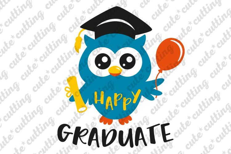 Kindergarten graduation svg, graduation svg, owl svg, dxf example image 1