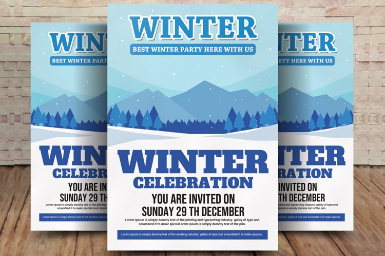Winter Bash Flyer example image 1
