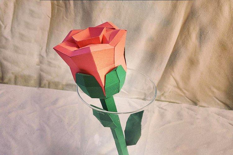 DIY Valentine Rose - 3d papercraft