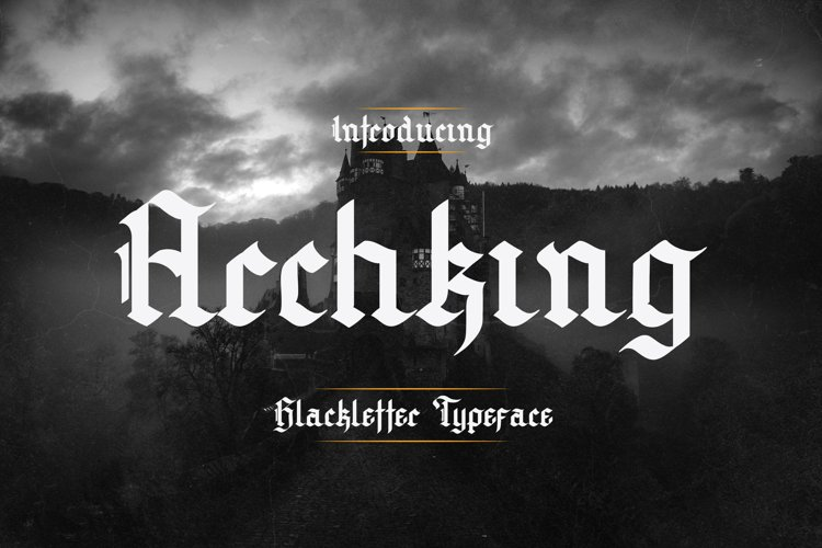 Archking - Blackletter Typeface example image 1