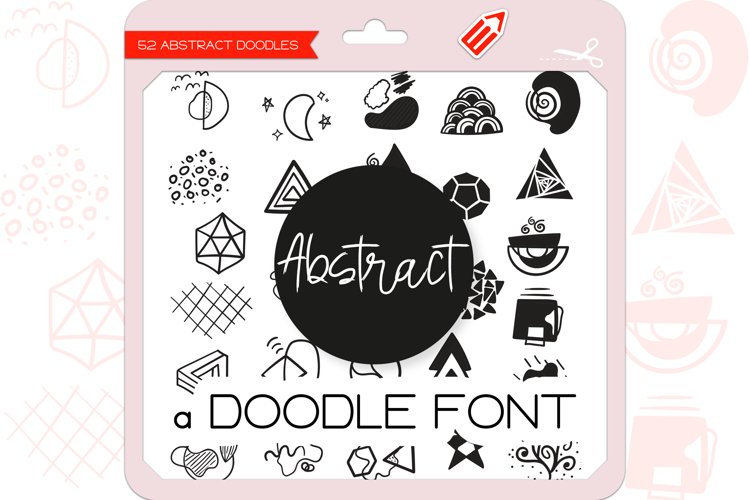 Abstract Doodles - Dingbats Font example image 1