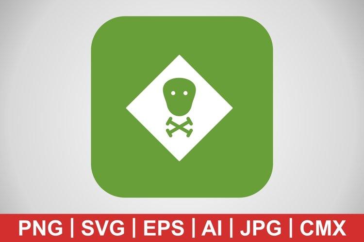 Vector Toxic Icon example image 1