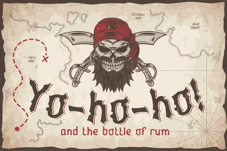 Yo-ho-ho. Vintage layered label font