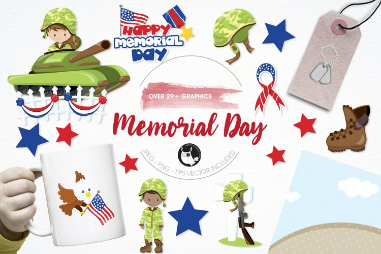 Memorial Day  graphics and illustrations