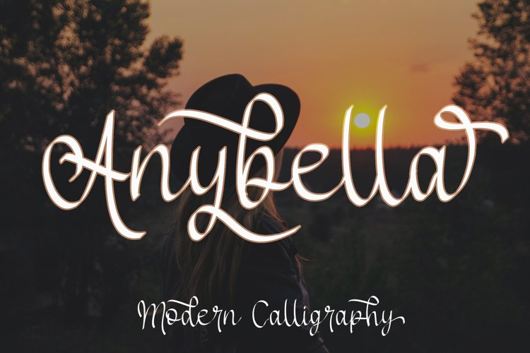 Anybella - Calligraphy Script example image 1