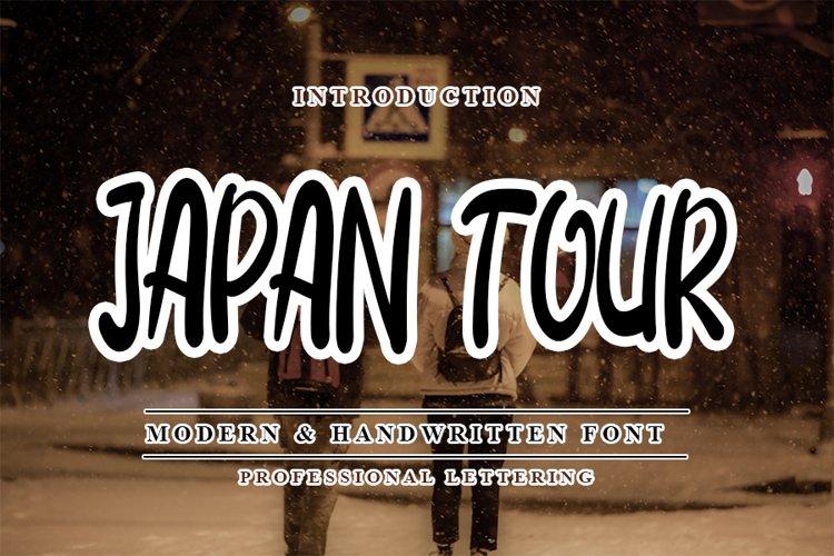 Japan Tour - Modern Handwritten Font example image 1