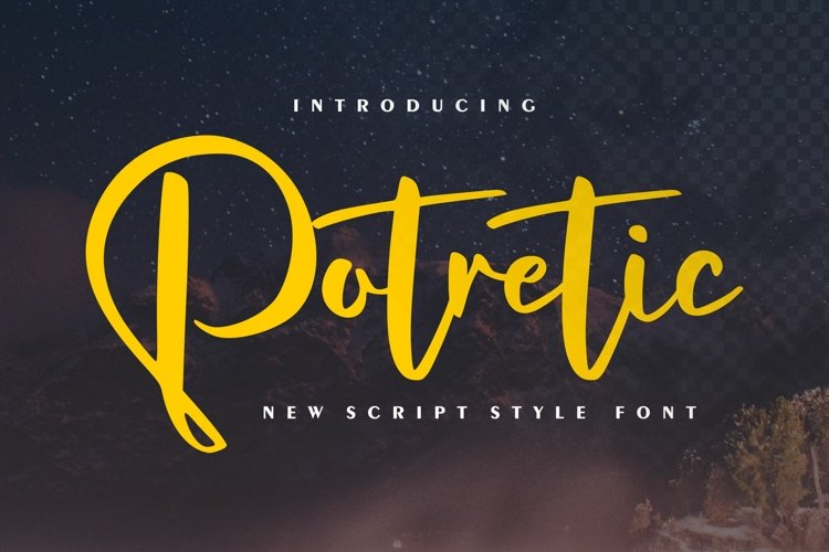 Potretic | New Script Style Font example image 1