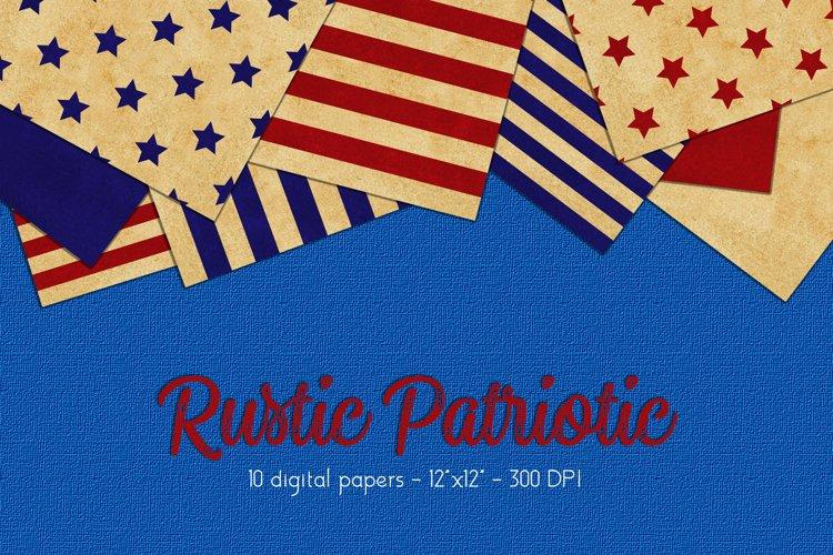Patriotic Digital Paper Set example image 1