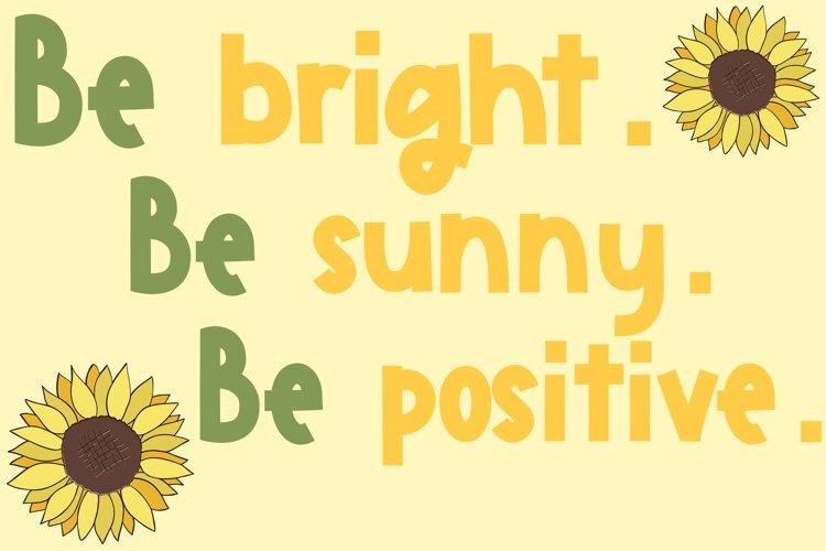 Sunflower Garden - A Cute Font example 4