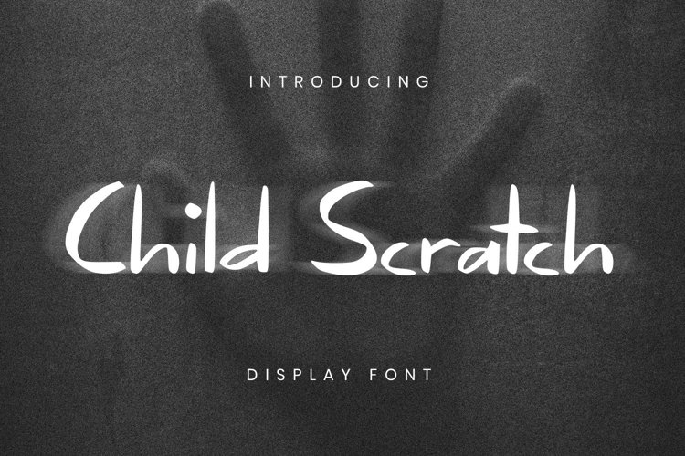 Child Scratch Font example image 1