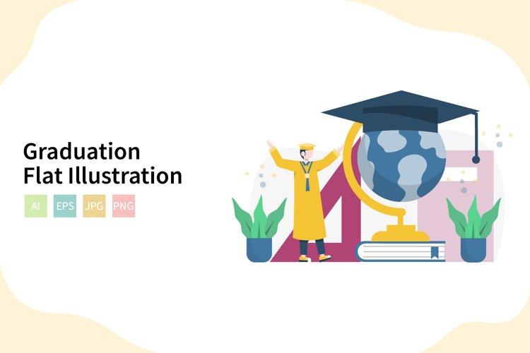 Graduation Flat Vector Illustration example image 1